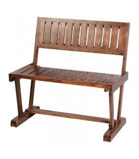 نیمکت دو نفره چوبی مدل ابرویی