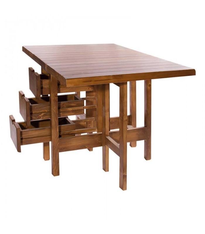 میز ناهار خوری تاشو کشو دار مستطیل