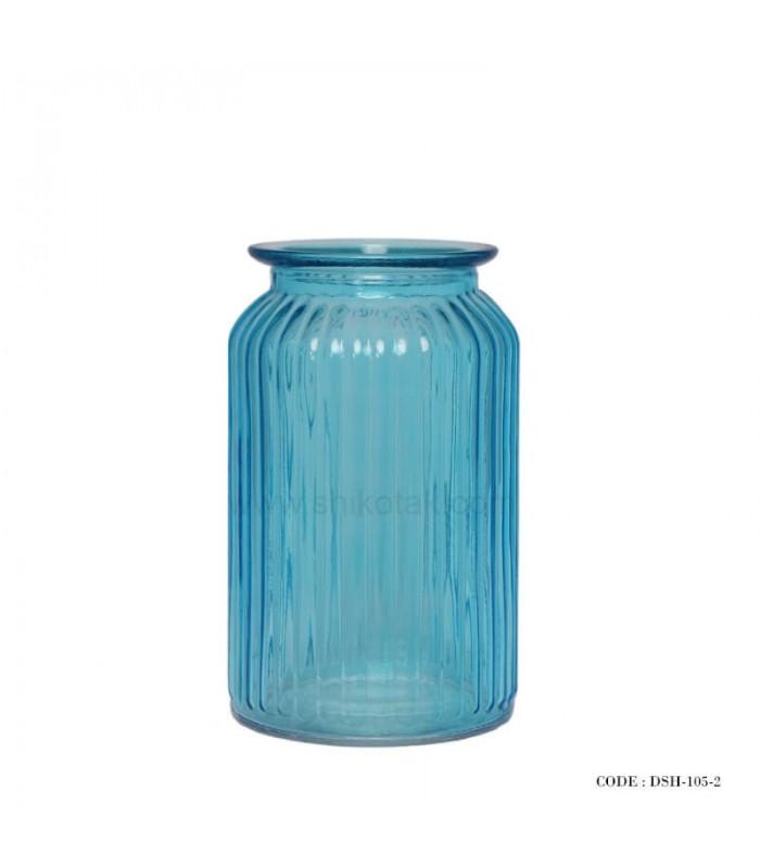 گلدان تزئینی شیشه ای رومیزی سری 2-105