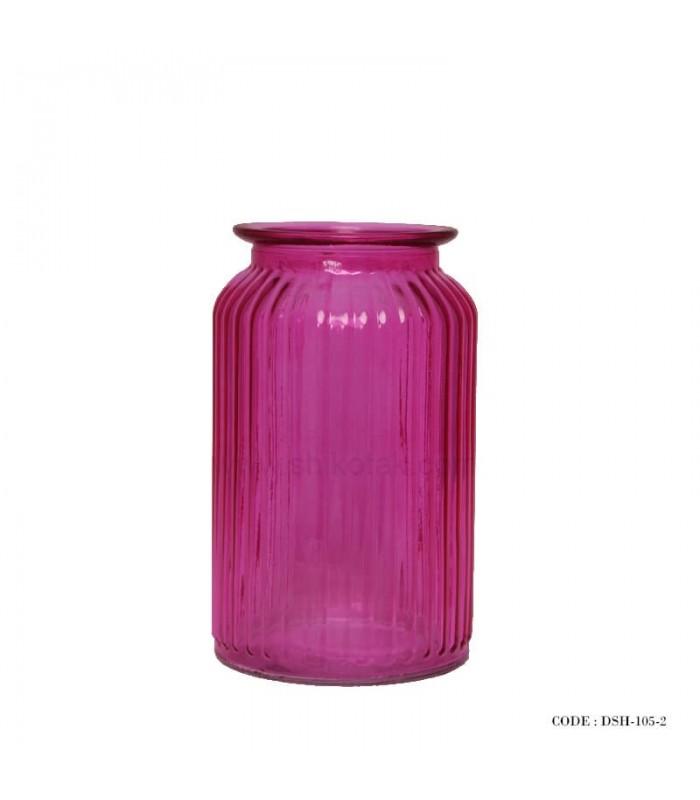 مدل گلدان دکوری شیشه ای رومیزی سری 2-105