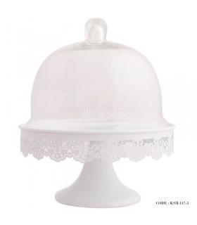 کیک خوری لب توری طرح ایکیا سفید