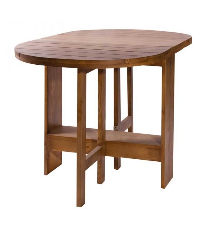 میز ناهار خوری گرد تاشو بدون کشو 4نفره