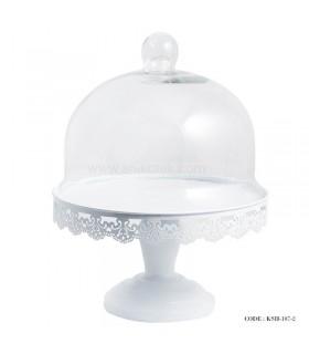 کیک خوری پایه دار سفید طرح سلما