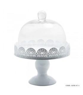 کیک خوری سفید طرح سیلویا سایز کوچک