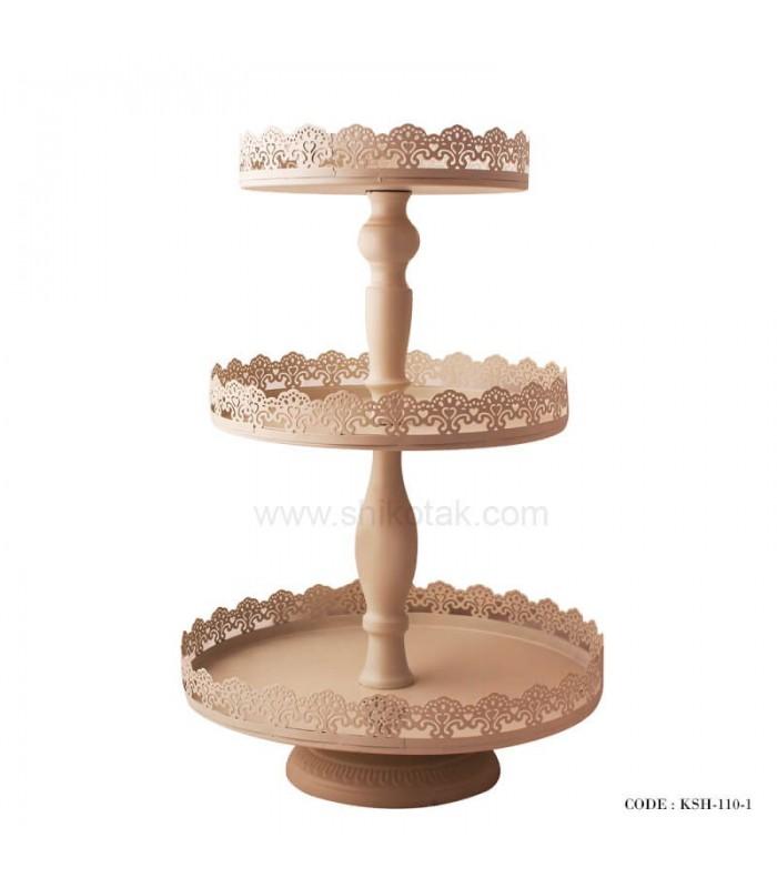 مدل کیک خوری سه طبقه لب توری ایکیا