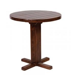 میز ناهار خوری چوبی گرد پایه بلند