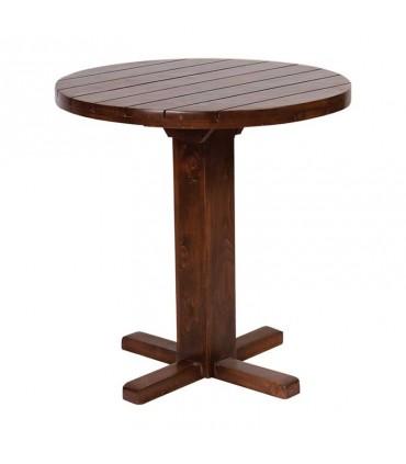 میز ناهارخوری چوبی گرد پایه بلند