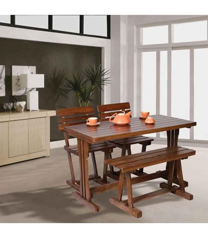 جدیدترین مدل صندلی ناهار خوری چوبی مدل سه تیرک