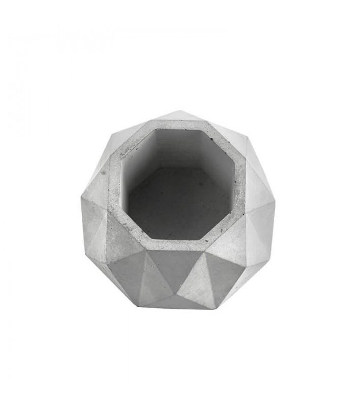 تصویر گلدان سیمانی هندسی طرح لوزی