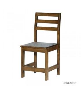 صندلی چوبی سری 117 طرح پشتی سه خط