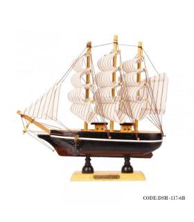 کشتی تزیینی چوبی مدل 6B
