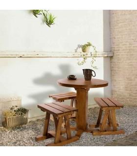 صندلی و میز غذا خوری سه نفره طرح گرد