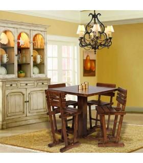 میز و صندلی پایه بلند ناهار خوری چهار نفره طرح رویا