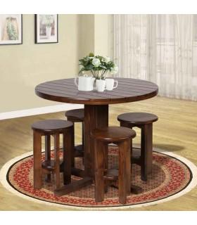 عکس سرویس صندلی و میز چهار نفره گرد