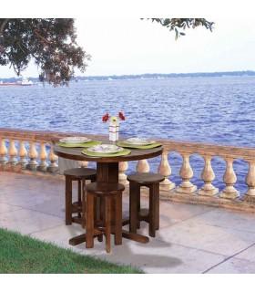 سرویس میز و صندلی ناهار خوری سه نفره طرح نیمکت