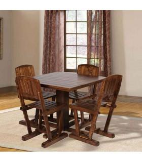 ست میز و صندلی ناهار خوری چهار نفره چوبی طرح شبنم