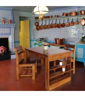 ست میز ناهارخوری طبقه دار چهارنفره چوبی