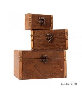 باکس سه تایی تزیینی چوبی
