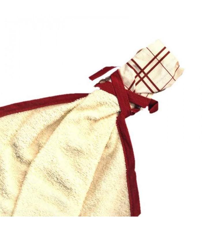 سرویس پارچه ای اشپزخونه طرح خالدار قرمز