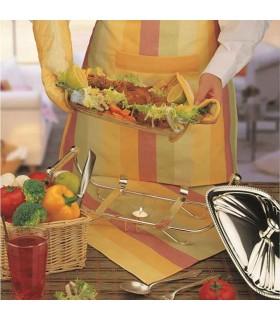 نیم ست آشپزخانه پارچه ای طرح رابید صورتی