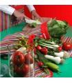 ست سرویس پارچه ای آشپزخانه طرح راه راه الوان