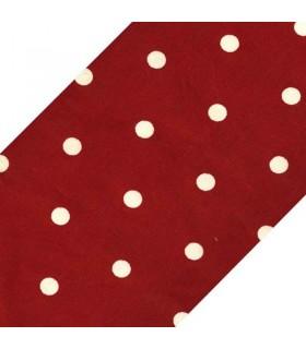 زیر بشقابی پارچه ای طرح خالدار قرمز
