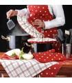 ست آشپزخانه کامل عروس طرح خالدار قرمز