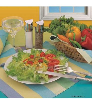 سرویس آشپزخانه پارچه ای عروس طرح رابید آبی