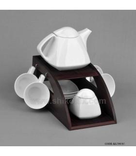 سرویس چای خوری سرامیکی طرح هرمی