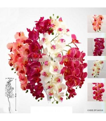 گل ارکیده مصنوعی شاخه کوتاه