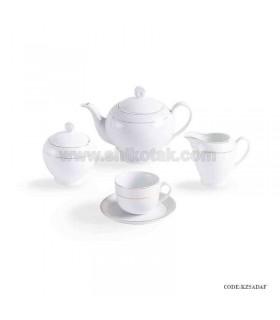 سرویس چایخوری 6 نفره زرین طرح سپید صدف