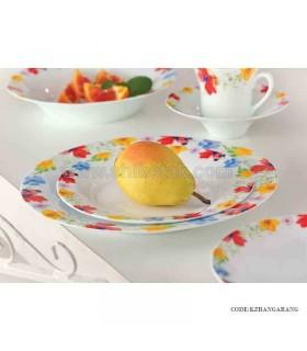 سرویس غذا خوری چینی ایرانی زرین 12 نفره رنگارنگ