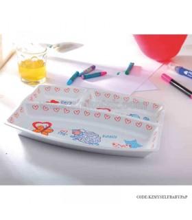 ظرف غذای چینی کودک زرین طرح بی بی پپ