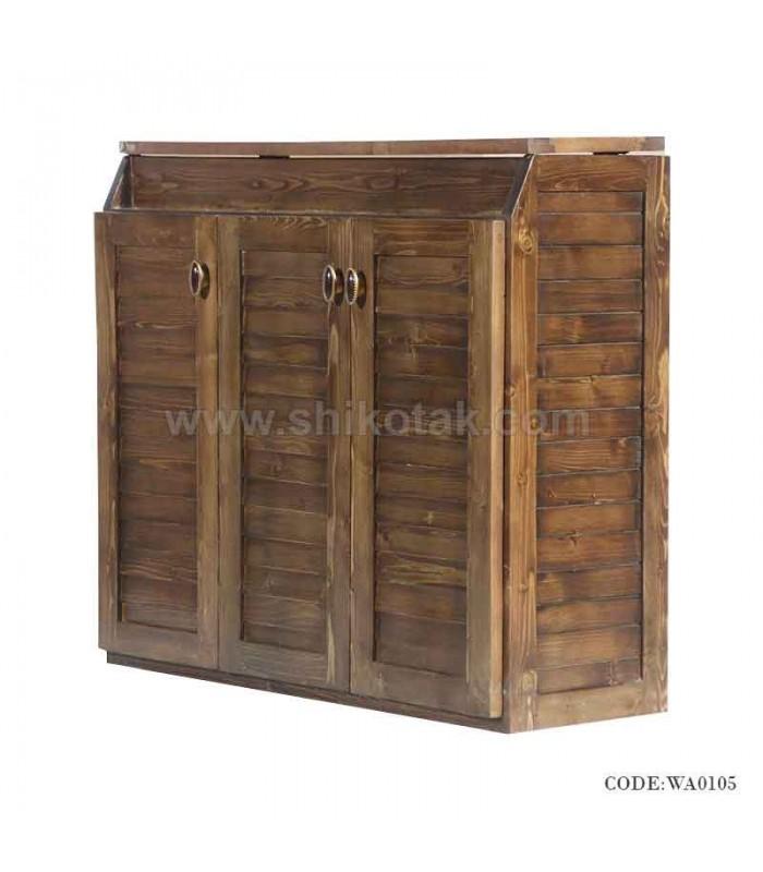 جدیدترین مدل جاکفشی تمام چوب طرح رومینا