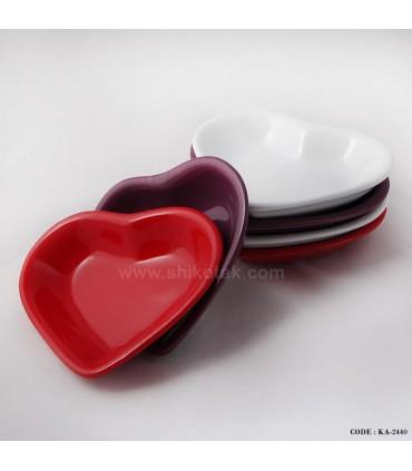 کاسه ماست خوری سرامیکی طرح قلب