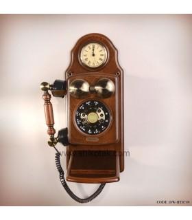 تلفن کلاسیک دیواری طرح ساعت دار ویکتور