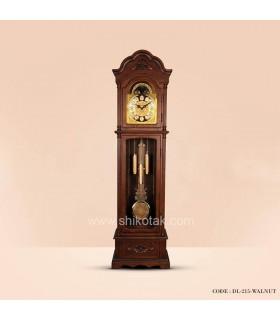 ساعت ایستاده چوبی سری 215 طرح کرون قهوه ای