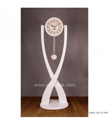 ساعت ایستاده پاندول دار سری 125 فلور سفید
