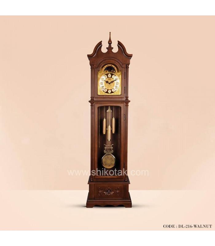 ساعت ایستاده چوبی سری 216 کرون قهوه ای