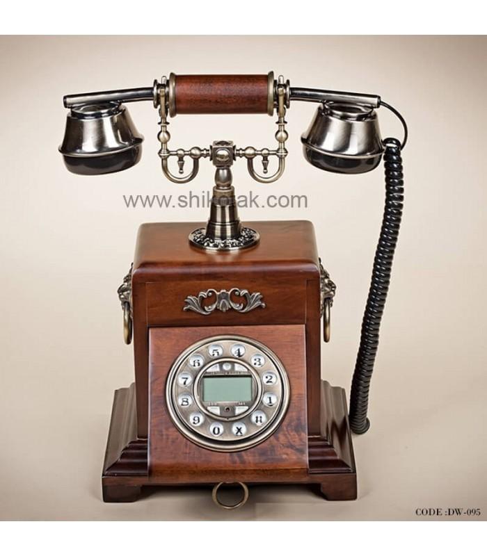 تلفن چوبی طرح قدیمی سری 095