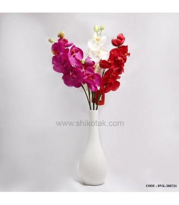 گلدان سفید سرامیکی مدل کوزه ای