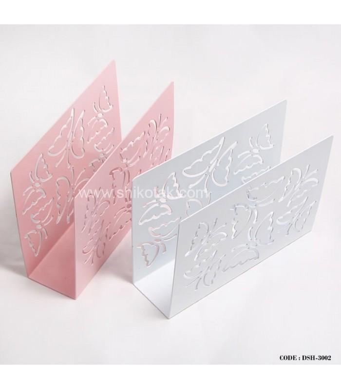 مدل جا دستمال رومیزی فلزی طرح پروانه