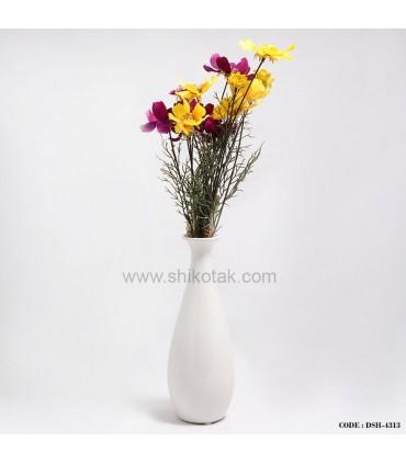 گلدان کشیده سفید سرامیکی