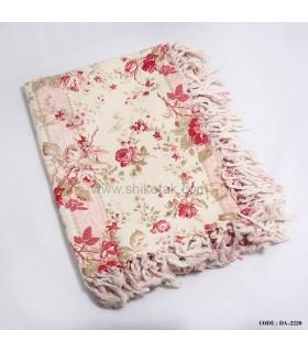 رومیزی طرح گل قرمز 4نفره