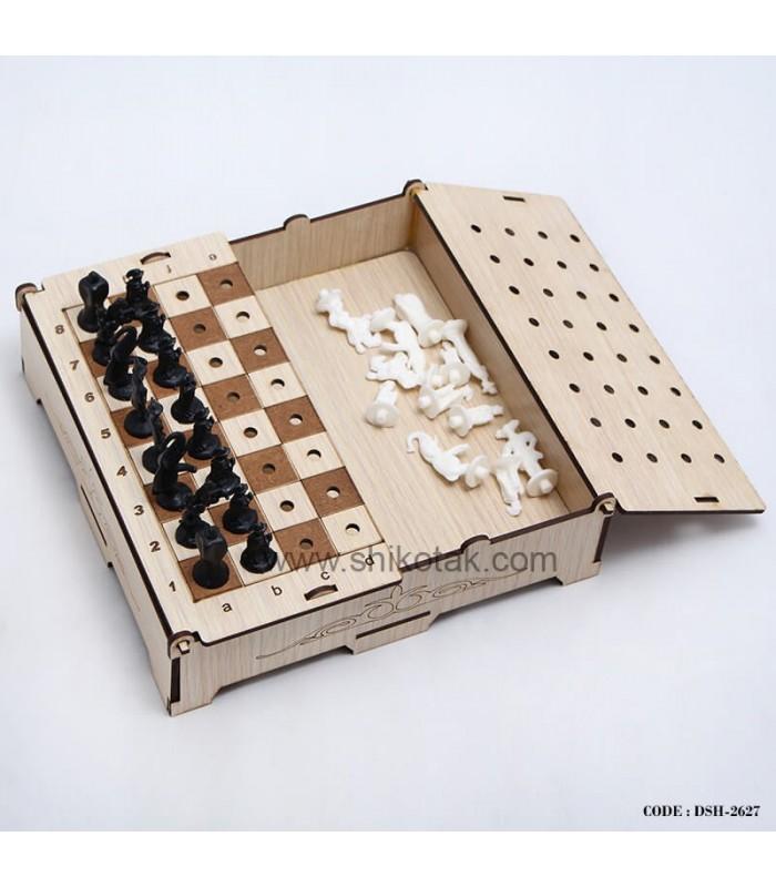 مدل شطرنج چوبی تاشو