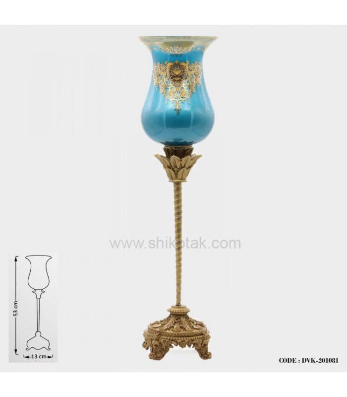شمعدان شاه عباسی آبی سری081