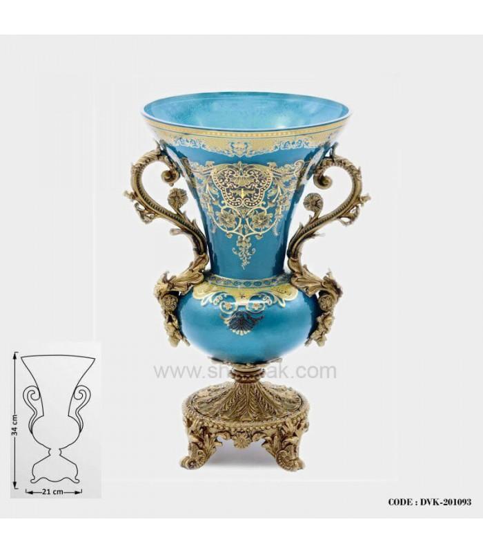 گلدان سلطنتی آبی سری 093