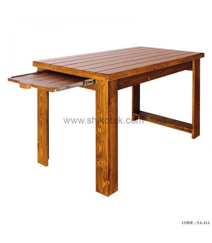 مدل میز ناهار خوری کشو دار چوبی بلند سری 414D