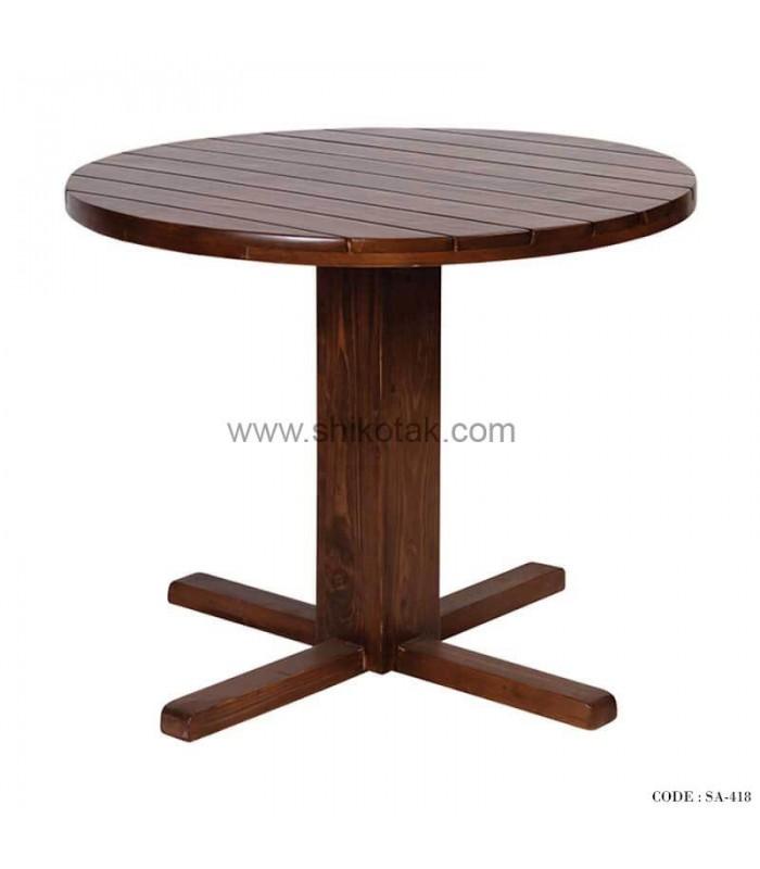 خرید میز ناهار خوری گرد چوبی سری 418
