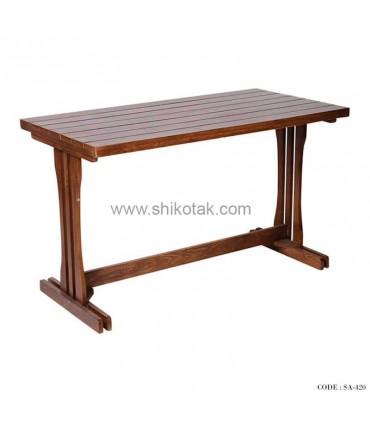 میز ناهار خوری چوبی مستطیلی سری 420